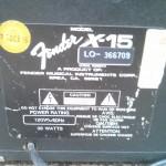 Fender x-15 1